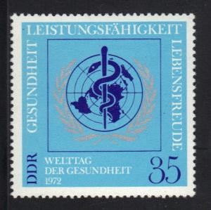 Germany  DDR  1972 MNH   world health day   complete