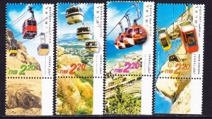 Israel #1479 - 1482 Cable Cars MNH Singles with tab