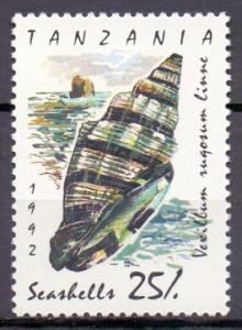 Tanzania   #942  MNH  1992   shells 25sh