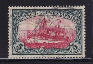 S.W. Africa Scott # 25 VF used neat cancel nice color cv $ 160 ! see pic !