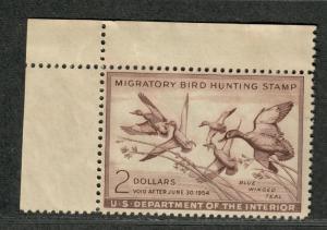 US Sc#RW20 M/NH/F-VF, Duck Stamp, Natural Gum Skips, Cv. $90