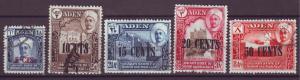 J20870 Jlstamps 1951 aden shihr & mukalla used #20-4 ovpt,s