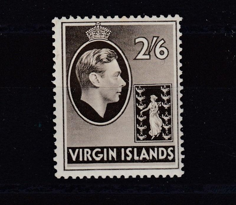 British Virgin Islands KGVI 1938 2s 6d Chalky Paper SG118 MLH J2326