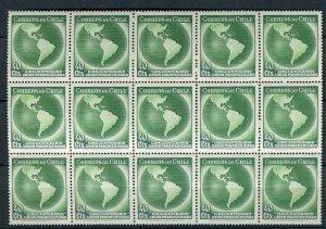 CHILE; 1940 early Pan USA Union fine MINT MNH BLOCK