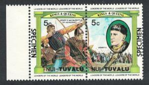 Tuvalu Nui British Monarchs 2v Henri V SPECIMEN 1984 MNH SC#26