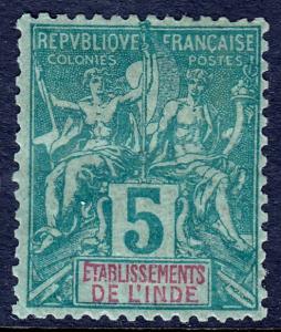 French India - Scott #4 - MH - SCV $5.50