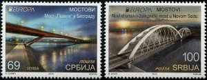 HERRICKSTAMP NEW ISSUES SERBIA Sc.# 816-17 EUROPA 2018 Bridges