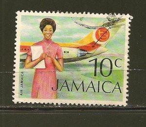 Jamaica Air Jamaica 10 Cent Issue Used