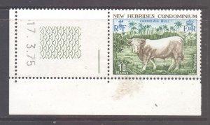 Vanuatu New Hebrides Scott 196 - SG199, 1975 Charolais Bull 10f MH*