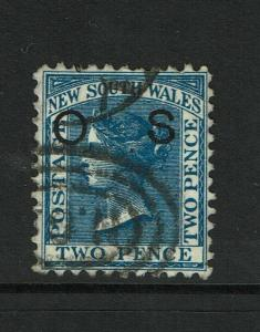 New South Wales SG# O3d Used / Wmk Sm Crown / P11x12 / Lt Horiz. Crease - S6462