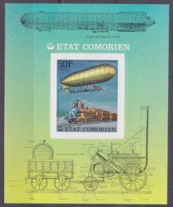1977 Comoro Islands 341/B86b Zeppelin 6,00 €