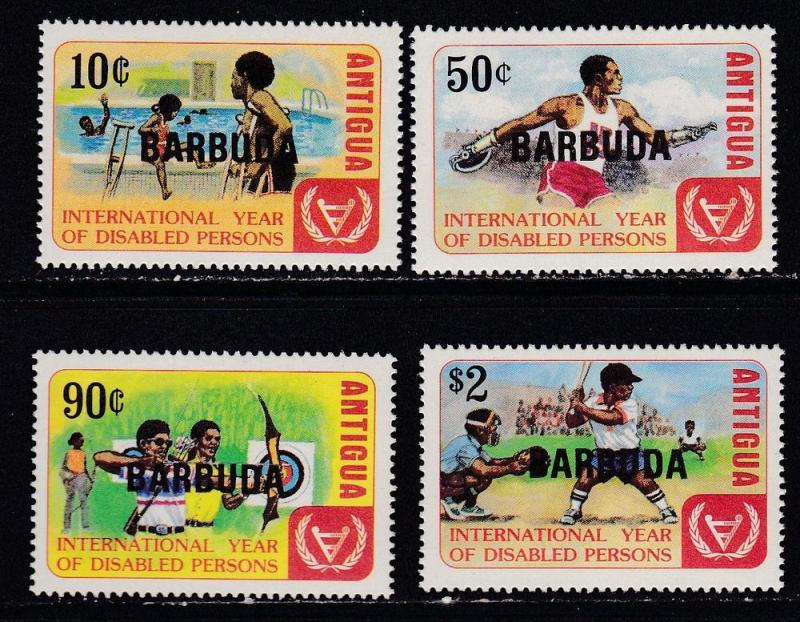 Barbuda # 522-525, Year of the Disabled, NH, Half Cat.
