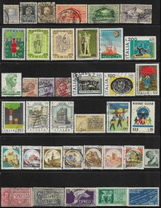 Italy 38 different mint/used stamp mini collection @ a nickel a stamp - 123433