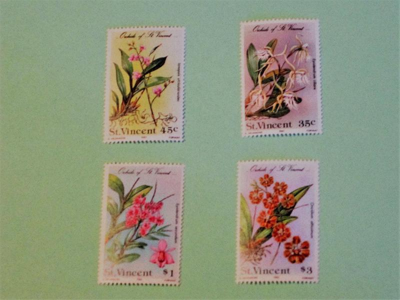 St. Vincent - 803-06, MNH Set. Orchids. SCV - $2.85
