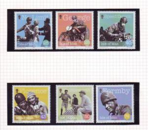 Isle of Man Sc 1039-44 2004 Formby Actor stamp set mint NH