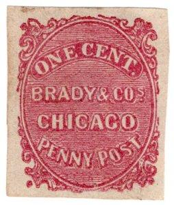 (I.B) US Local Post : Brady & Co Penny Post