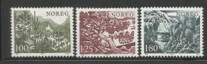 NORWAY, 695-697, MNH, NORWEGIAN TREES