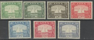 Aden 1-7 ** mint NH dhow boat (2107 1)