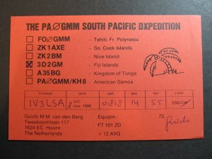 4220 Amateur Radio QSL Card South Pacific DXPedition Fiji