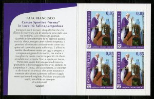 VATICAN CITY POPE FRANCIS VISITS THE USA BOOKLET COMPLETE MINT NEVER HINGED