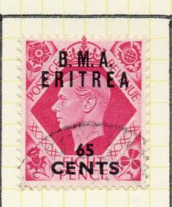 Eritrea 1948-50 Early Issue Fine Used 65c. Surcharged BMA Optd 308047