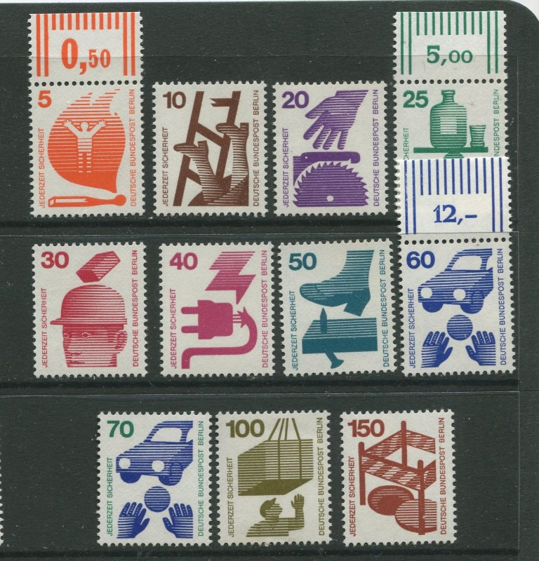 STAMP STATION PERTH Berlin #9N316-9N325 Accident Prevention - MNH CV$15.00