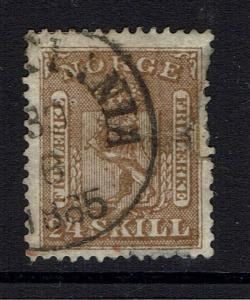 Norway SC# 10, used, mixed condition, early date cancel, see notes - Lot 041617
