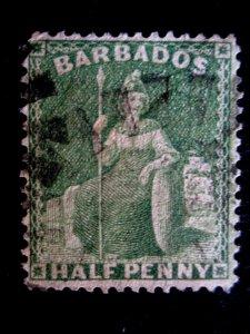 BARBADOS - SCOTT#13 - USED - CAT VAL $23.00