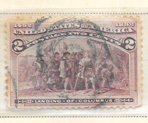 US # 231  2c Columbian Exposition (U) CV $0.30