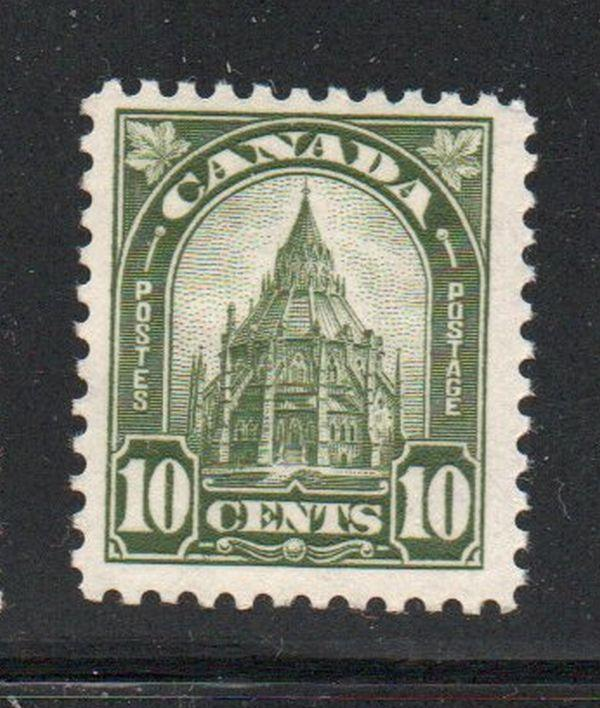 Canada Sc 173 1930 10c olive green Parliamentary Library  stamp mint