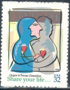 3227 Organ and Tissue Donation F-VF MNH single