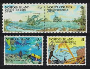 Norfolk Diving Bicentenary of Wreck of HMS 'Sirius' 4v SG#479-482 SC#471-474