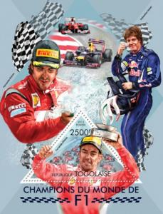 TOGO 2013 SHEET F1 FORMULA 1 WORLD CHAMPIONS SPORTS tg13418b