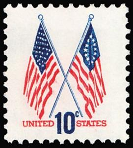 1509 Crossed Flags F-VF MNH single