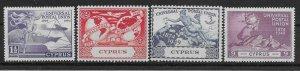 CYPRUS SG168/71 1949 U.P.U. SET MTD MINT