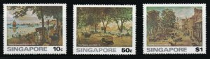 Singapore - 1976 - Sc 254 - 256 - Painting of Old Singapore - MNH