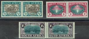 SOUTH AFRICA 1939 HUGENOT SET MNH ** PAIRS