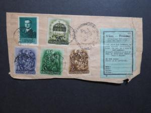 Hungary 1933 Trimmed Registered Cover to USA - Z8647
