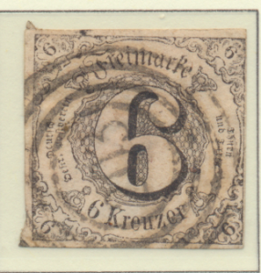 Thurn and Taxis Stamp Scott #45, Used, Three Large Margins - Free U.S. Shippi...