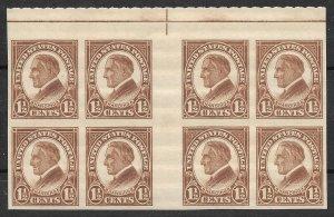 Doyle's_Stamps: MNH 1926 Warren G. Harding UM Center Gutter Block, Scott #631**