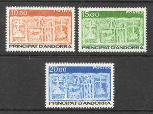 Andorra French Sc# 333-335 MNH 1987 First Arms of Valleys of Andorra