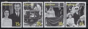 BAHAMAS SG1453/6 2007 DIAMOND WEDDING MNH