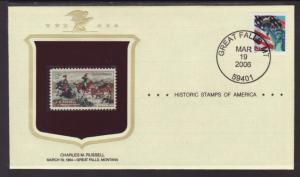 US Charles Russell Historic Stamp Cover BIN