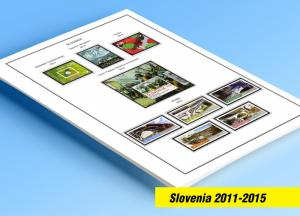 COLOR PRINTED SLOVENIA 2011-2015 STAMP ALBUM PAGES (43 illustrated pages)