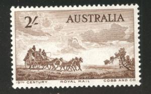 AUSTRALIA Scott 282 MH* 1955 Mail coach stamp