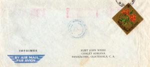 Ruanda Urundi Burundi 8F Crossandra Diamond 1967 Usumbura Airmail Printed mat...