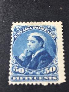 CANADA # 47--MINT/NO GUM/UNUSED-----DEEP BLUE----1893