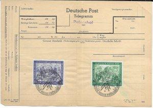 Germany Deutsche Post Telegram Sheet 1948