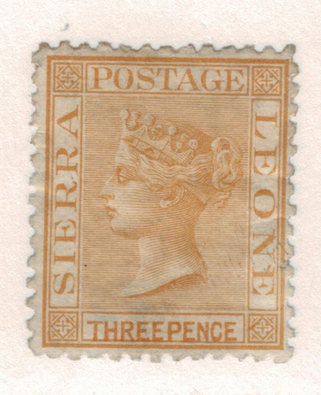 Sierra Leone Stamp Scott #8, Mint, Part Gum, Watermarked Sideways - Free U.S....