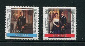 St. Kitts MNH 181-2 Royal Wedding Prince Andrew & Sarah